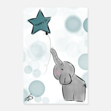 Daddy Happy J's Sweety Elephant - Poster 40 x 60 cm
