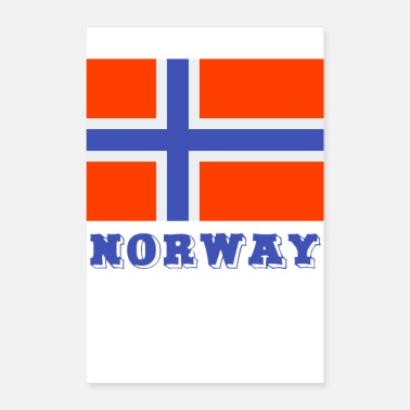 Norge norge - Poster 40x60 cm