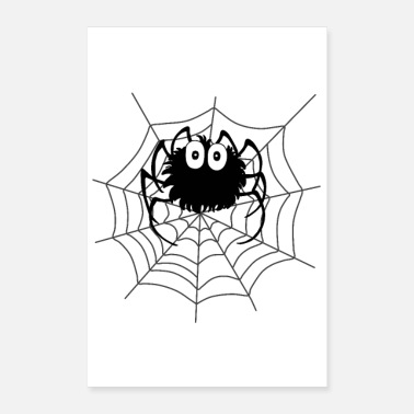 Goth Spider Web Halloween Spider Web Poster Gift - Poster
