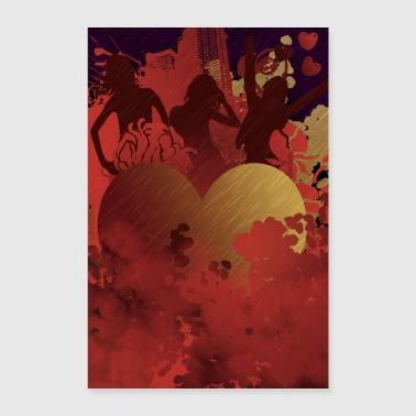 Hot Love - Hot Love - Poster 40x60 cm