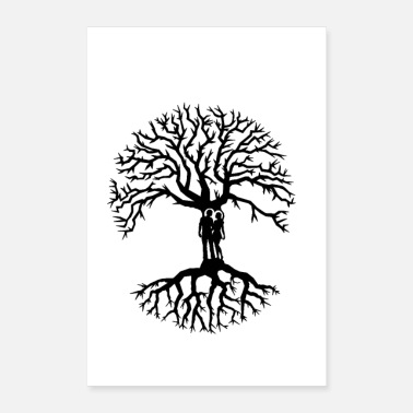 Anchor couple tree of life zen lucky tree love tree - Poster