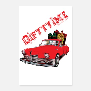 Gift Gift Time Car - Poster 40x60 cm