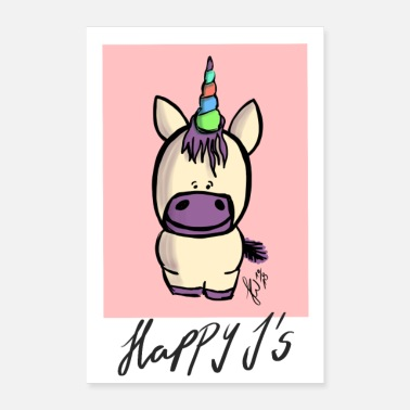 Equalizer Happy Js Happy Unicorn - Poster