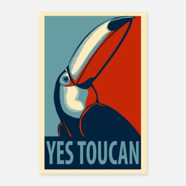 Obama Sì poster Toucan - Poster 40x60 cm