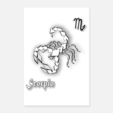 Astrology zodiac scorpion poster sign astrology scorpio - Poster