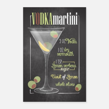 Taulu Vodka Martini Juliste Bar Gift - Juliste 40x60 cm