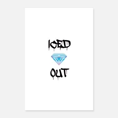 Cop iced out - Poster 16 x 24 (40x60 cm)