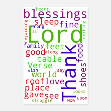 Bless You Thank You Lord For Your Blessings On Me - Poster