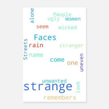 Strange People Are Strange - Poster