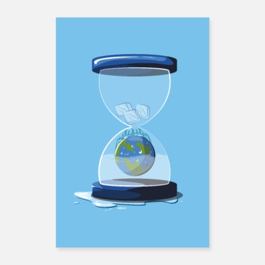 Pollution Hourglass world - Poster