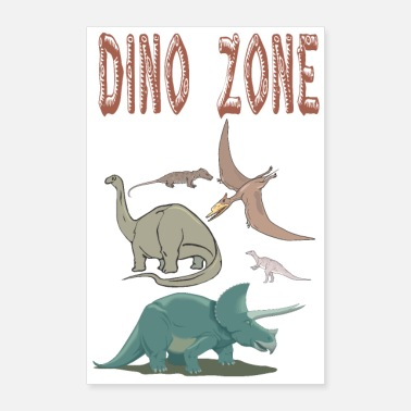 Fossil Dino Zone - Poster