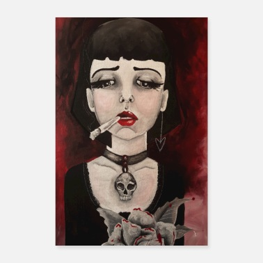 Necklace Gothic girl - Poster