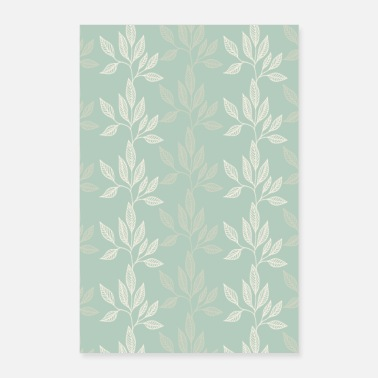 Ornement Fleurs turquoise - Poster