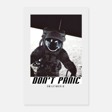 SmileyWorld Don't Panic Astronaut - Poster