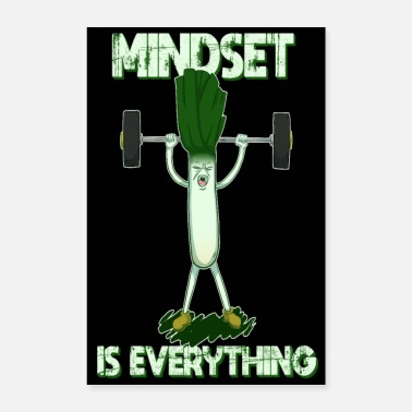 Everything Fitness Lauch Mindset Is Everything Bodybuilder - Poster