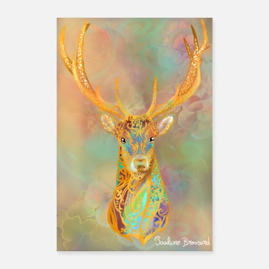 Poste Cerf poster - Poster
