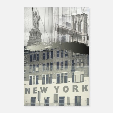 Ny COLLAGE VINTAGE NY - Poster