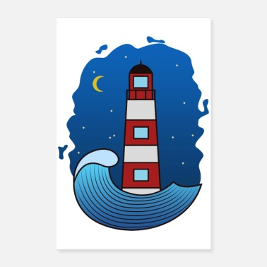 Nocturnal lighthouse - Poster