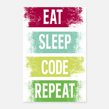 Software Eat Sleep, Eat Sleep Code Repart - Poster