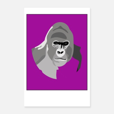 Fauna Gorilla with Purple background - Poster