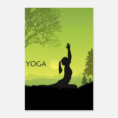 Yoga Doing Yoga by Nature Yoga Poster - Poster