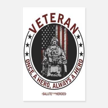 Anonymous Salute to our Heroes Veteran Poster - Poster