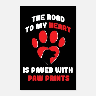 Dog Sports Dog paw heart dog owner gift dog sport - Poster