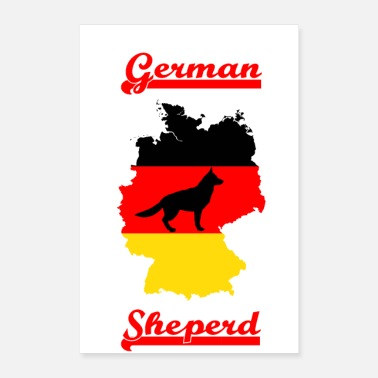 German Shepherd German shepherd dog - Poster 16 x 24 (40x60 cm)