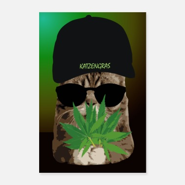 Ironie Affiche humour. Chanvre d'herbe à chat - cannabis - Poster
