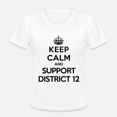 District 12 Keep calm and support District 12 (Hunger Games) - Naisten tekninen t-paita