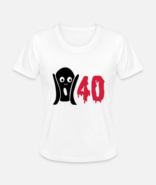 Forty T-Shirts - Scary 40th birthday - Women's Functional T-Shirt white