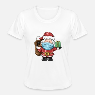 Santa Claus with mask Christmas gift idea - Women's Functional T-Shirt