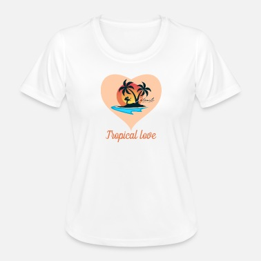 Île Tropical love by Kotomili Mauritius - T-shirt sport Femme