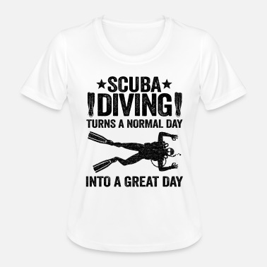 Deep Funny Scuba Diving Day Quote Funny Diver Gift - Women's Functional T-Shirt