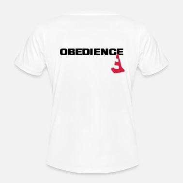 Obedience Obedience with pylons - Women's Functional T-Shirt