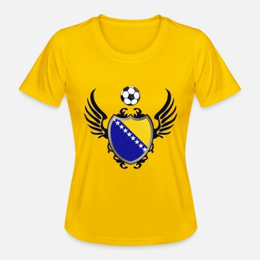 Wings Fotball Bosnia (Coat of Arms & Wings) - Funksjons-T-skjorte for kvinner