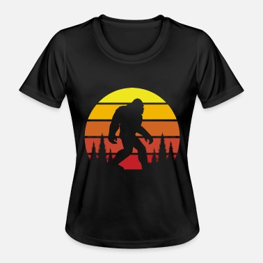 Sasquatch Vintage sasquatch bigfoot silhouette - Women's Functional T-Shirt