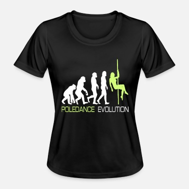 Stripperin Pole Dance Dancer Evolution stang gave - Funksjons-T-skjorte for kvinner