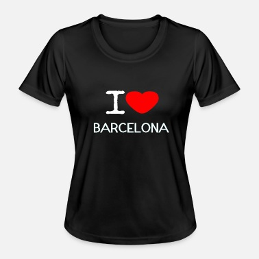 I Love Barcelona I LOVE BARCELONA - Women's Functional T-Shirt