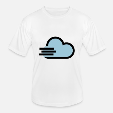 Windig Windiges Wetter Icon - Männer Funktions-T-Shirt