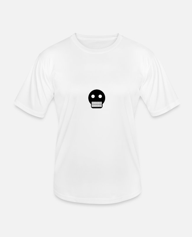 Headphones T-Shirts - head - Men's Functional T-Shirt white