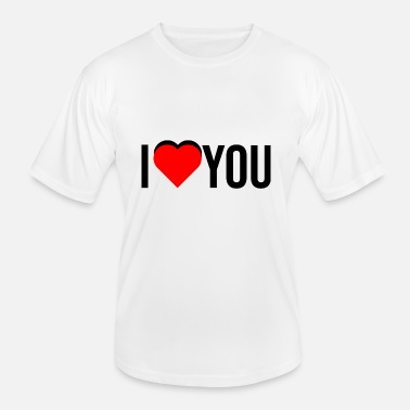 Message I love you - Men's Functional T-Shirt