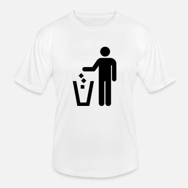 Trash Can Stick figure trash can - Men's Functional T-Shirt
