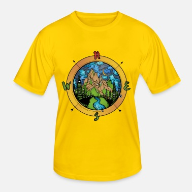 Compass Compass and nature compass - Men's Functional T-Shirt
