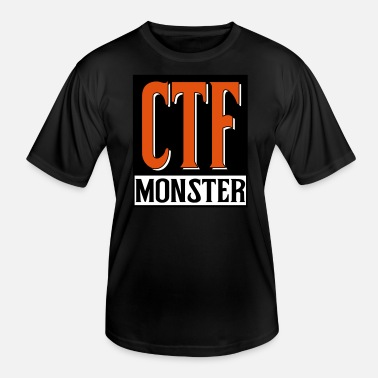 Ctf ctf monster nerd gamer camper - Funksjons-T-skjorte for menn