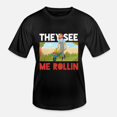 Beef They See Me Rollin Farmer Farming Farm Animal Gift - Men's Functional T-Shirt