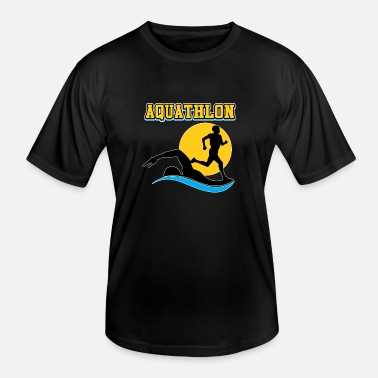 Swim And Run Aquathlon a sport is not enough swim and run - Men's Functional T-Shirt