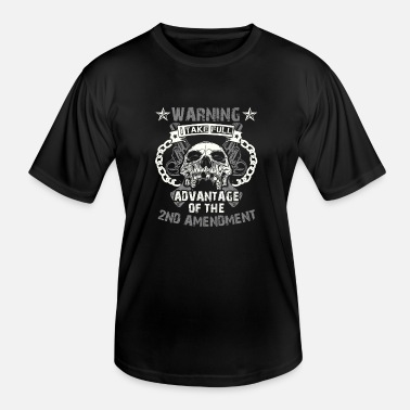 2nd Amendment Waarschuwing 2nd Amendment Pistol T-shirt - Functioneel T-shirt voor mannen