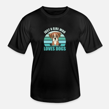 Sweets just a girl who loves dogs boxer vintage dog green - Men's Functional T-Shirt