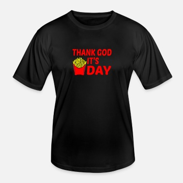 Healthy Eating Thank God It's Fries Dayanimalcartoonkawaiichristm - Men's Functional T-Shirt